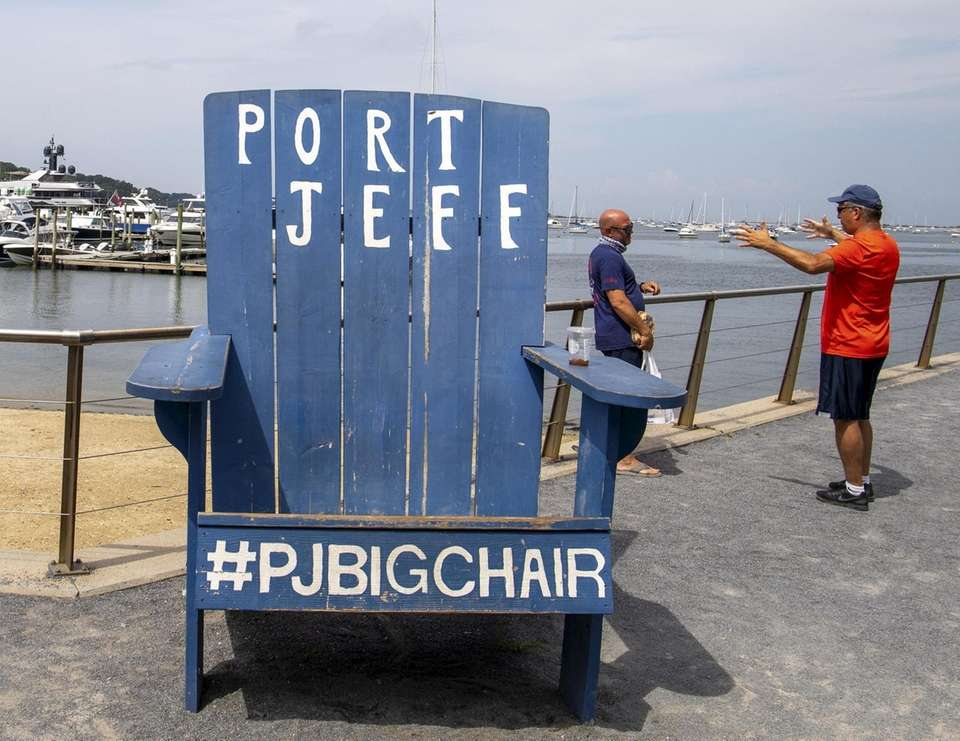 The Port Jeff Big Chair at Harborfront Park