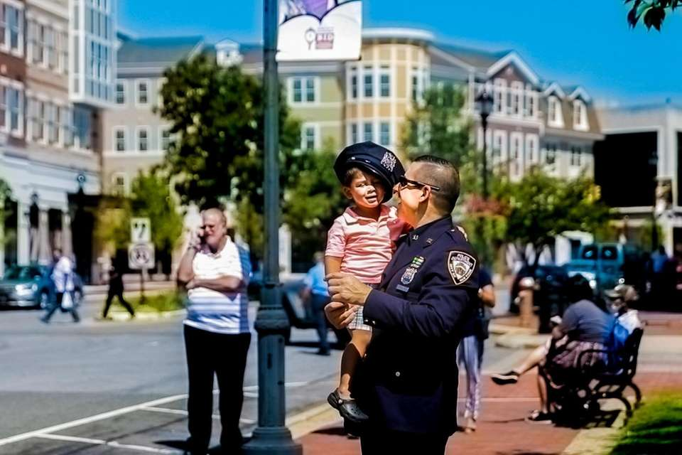 Officer Michael Ippolito and his son Milo at