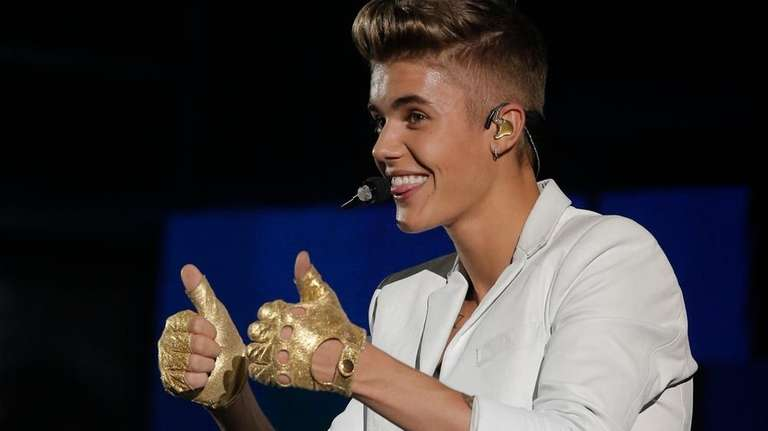 Singer Justin Bieber performs during a concert as