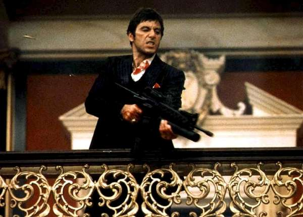 """Scarface"" (1983) -- In Brian DePalma's remake of"