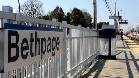 The Bethpage station of the LIRR. (March, 19,