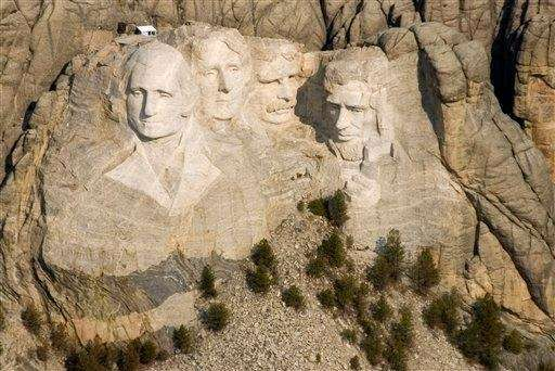 Mount Rushmore National Memorial in South Dakota is