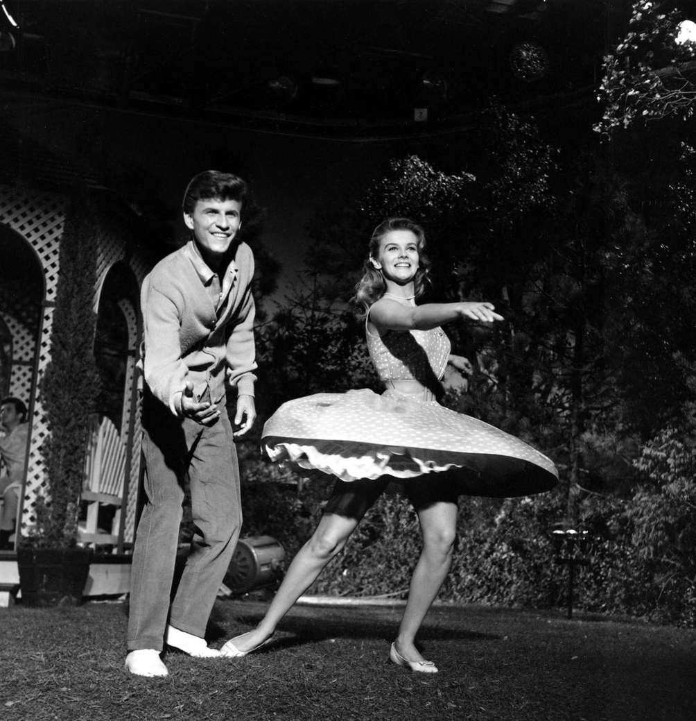 Ann-Margret, right, and Bobby Rydell dance during a