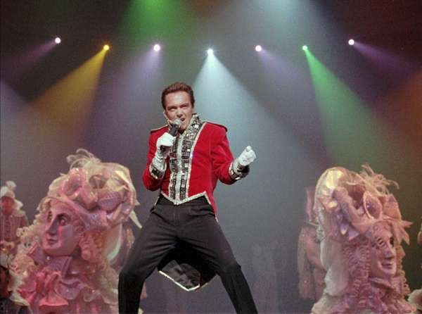 Entertainer David Cassidy, star of the theatrical show,