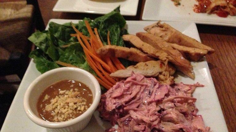 Thai chicken lettuce wraps at BlonDee's Bistro in