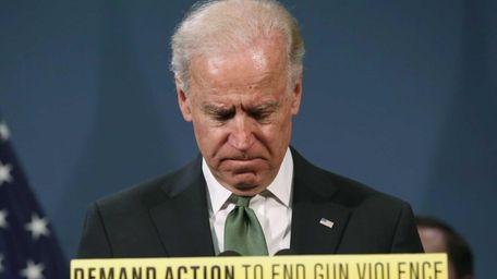 U.S. Vice President Joe Biden speaks in favor