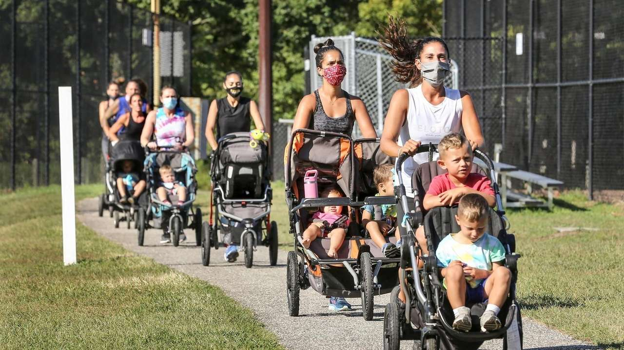 Moms with young children find they can exercise