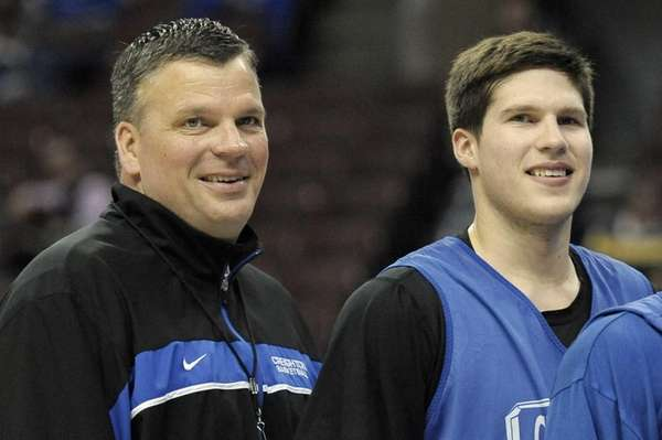 Creighton head coach Greg McDermott and his son