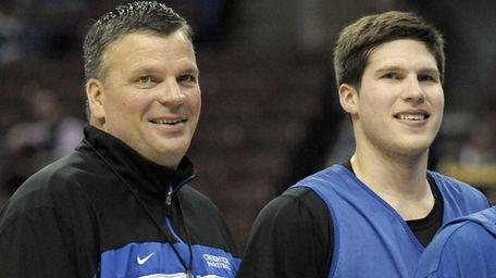 Creighton head coach Greg McDermott and his son