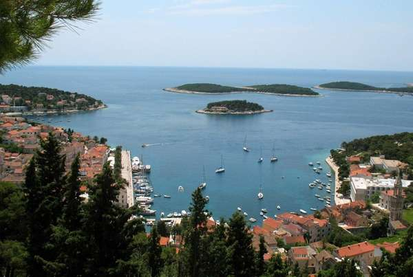 A view of the Croatian town of Hvar,
