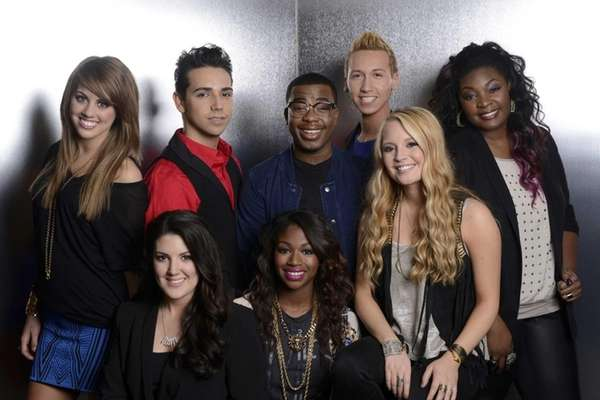 "The ""American Idol"" Top 8, clockwise from top"