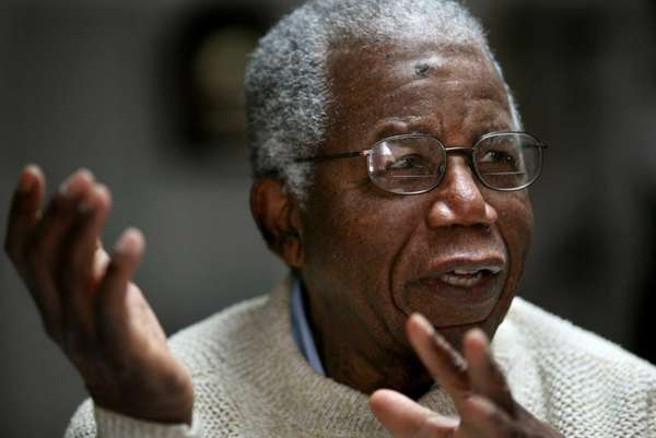 Chinua Achebe, Nigerian-born novelist and poet as he