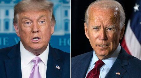Combination photo of President Donald Trump and Democratic