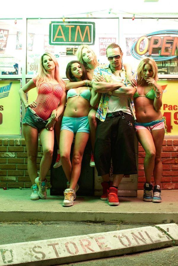 From left, Rachel Korine, Selena Gomez, Ashley Benson,