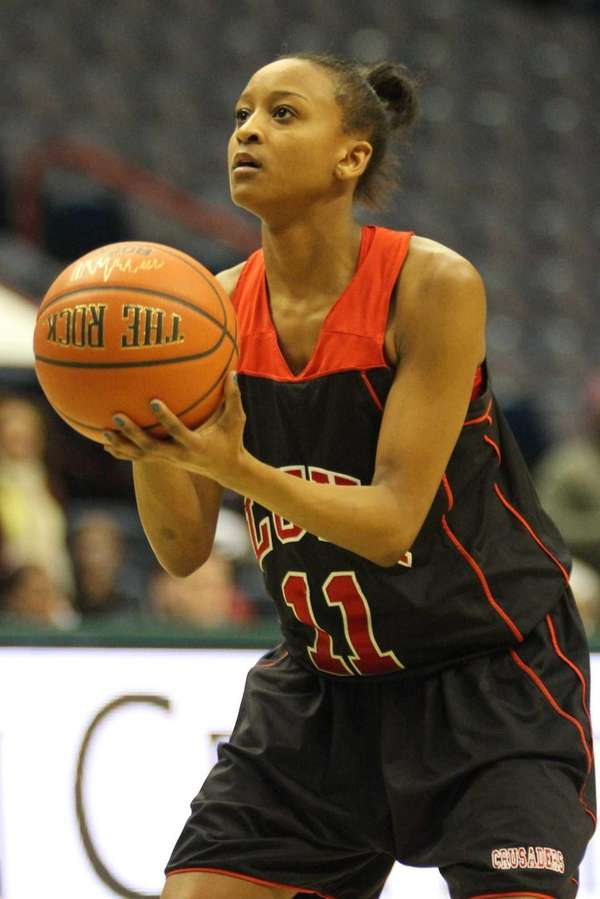 Long Island Lutheran's Leah Cooper sets up for