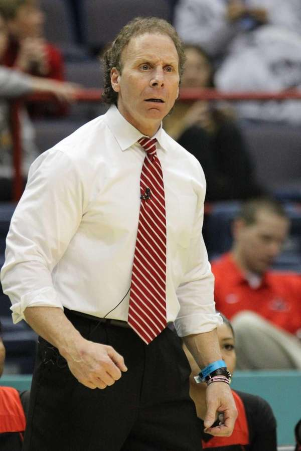Long Island Lutheran's head coach Rich Slater gives