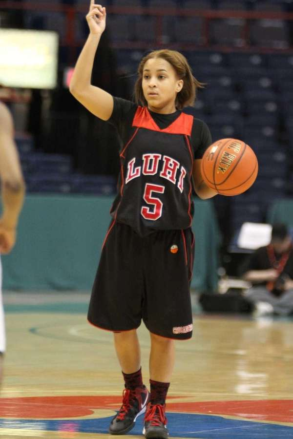 Long Island Lutheran's Kaela Hilaire directs traffic during