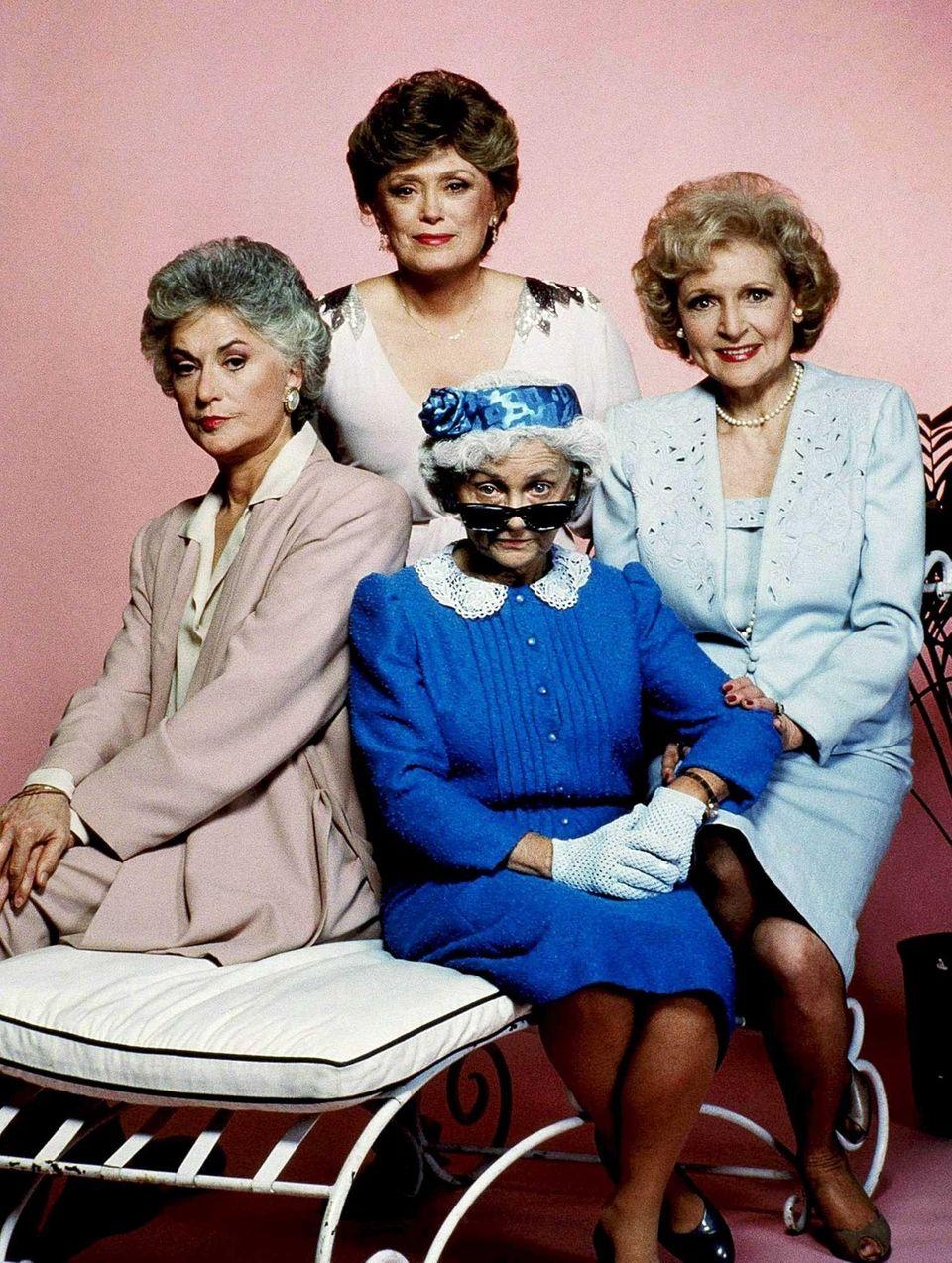 Four seniors (Bea Arthur, Estelle Getty, Rue McClanahan,