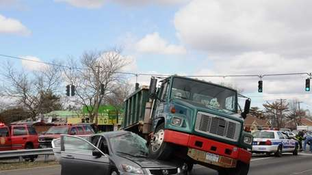 Four vehicles were involved in a crash Friday