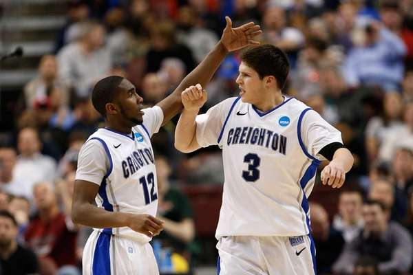 Jahenns Manigat and Doug McDermott of the Creighton