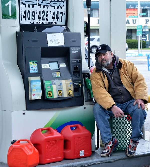 Charles Tegeler, at a BP station on Hempstead
