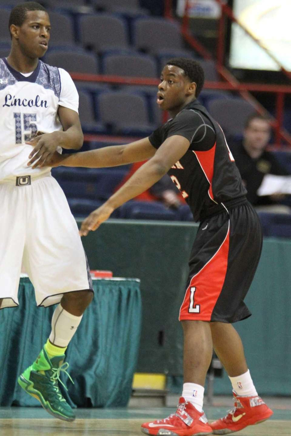 Long Island Lutheran's Tim Quashie stays close to