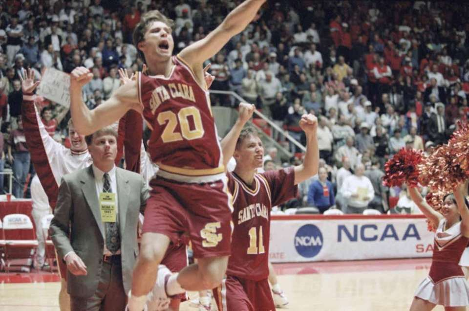 1993 NCAA Tournament No. 15. Santa Clara upset