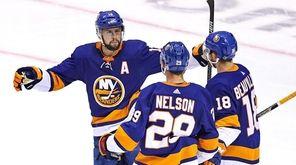 Brock Nelson #29 of the New York Islanders