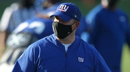 Giants head coach Joe Judge coaches his players