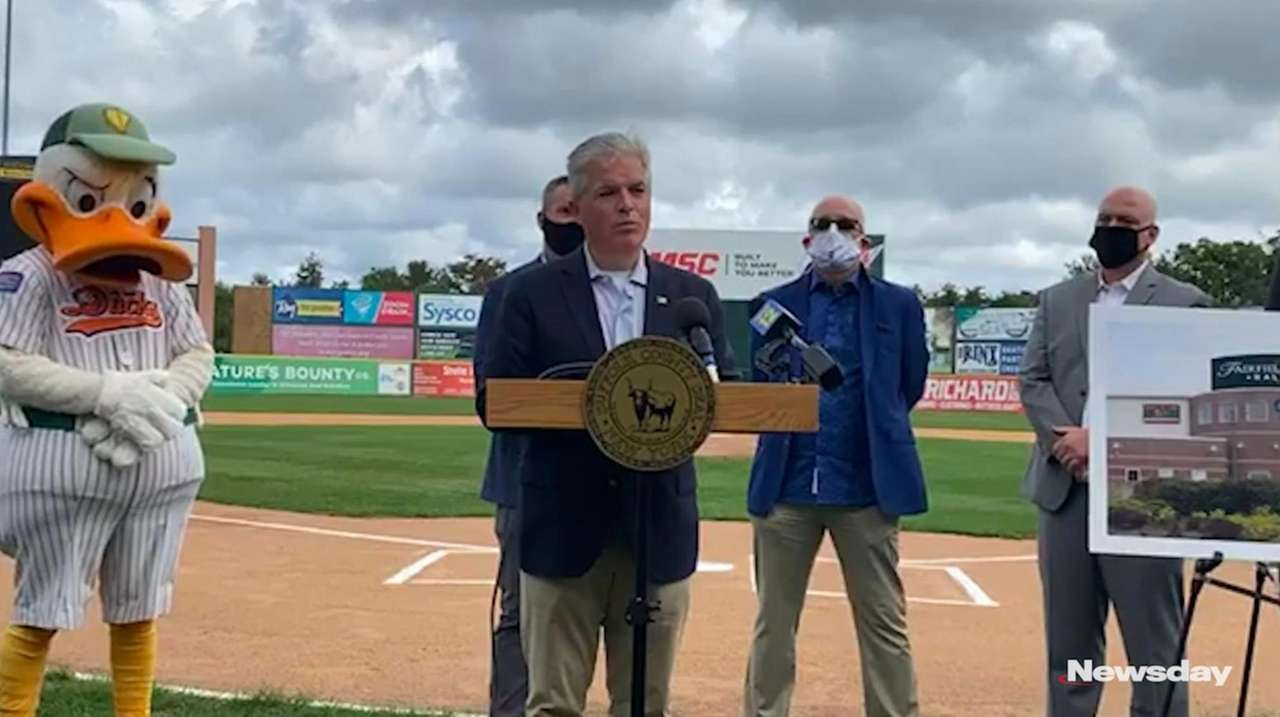 Suffolk County Executive Steve Bellone and the Long