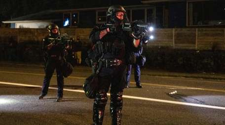 Portland police take control of the streets after