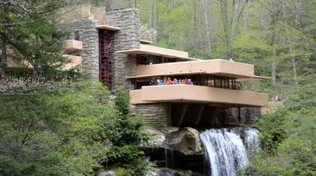 A view of the famous ''Fallingwater'' mansion by