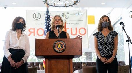 Nassau County Executive Laura Curran on Tuesday announces
