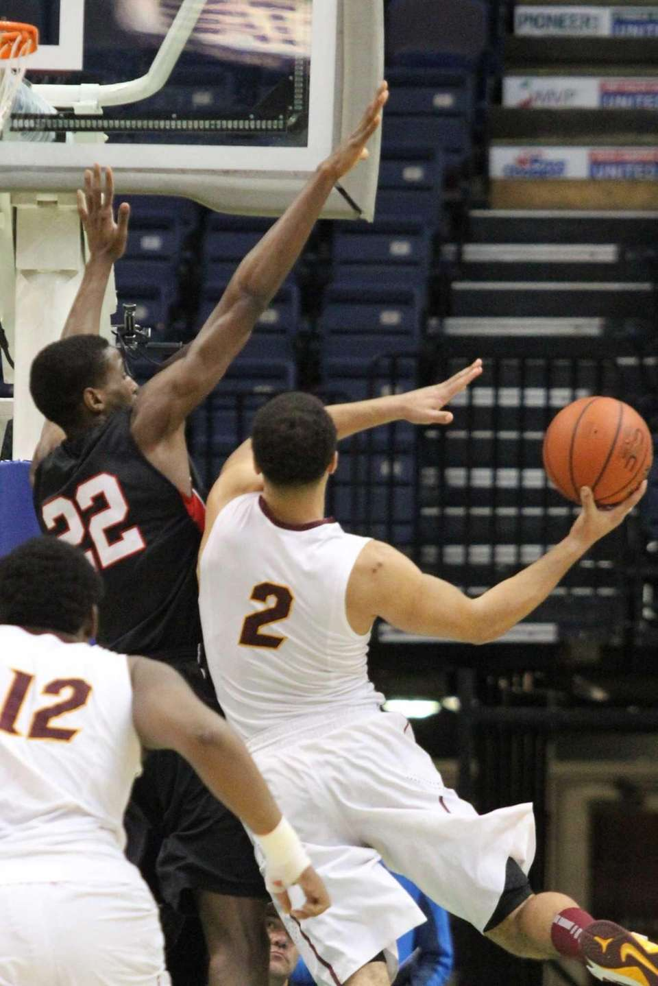 Long Island Lutheran's Kentan Facey goes for the