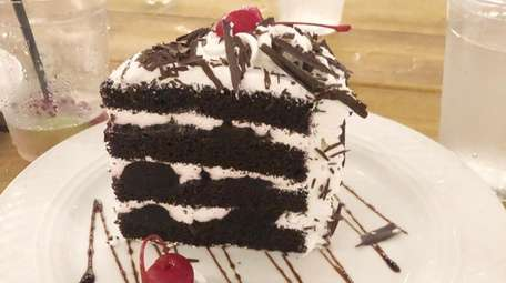 The black forest cake at Otto's Courtyard, a