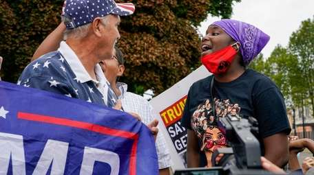 President Donald Trump's supporters and Black Lives Matter