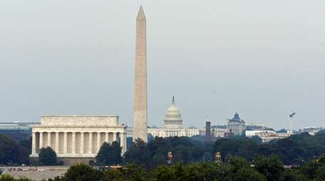 The Lincoln Memorial and Washington Monument and the