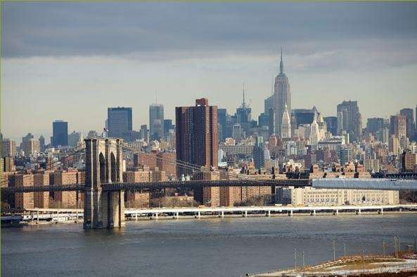 A view of the New York City skyline