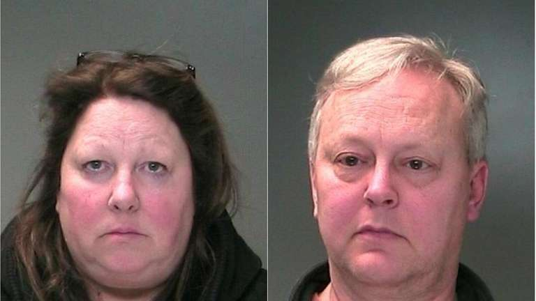 A Sayville husband and wife were arrested after