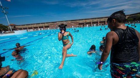 The ever-popular Jones Beach West Bathhouse pool is