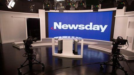 The Newsday studio, seen on Tuesday.