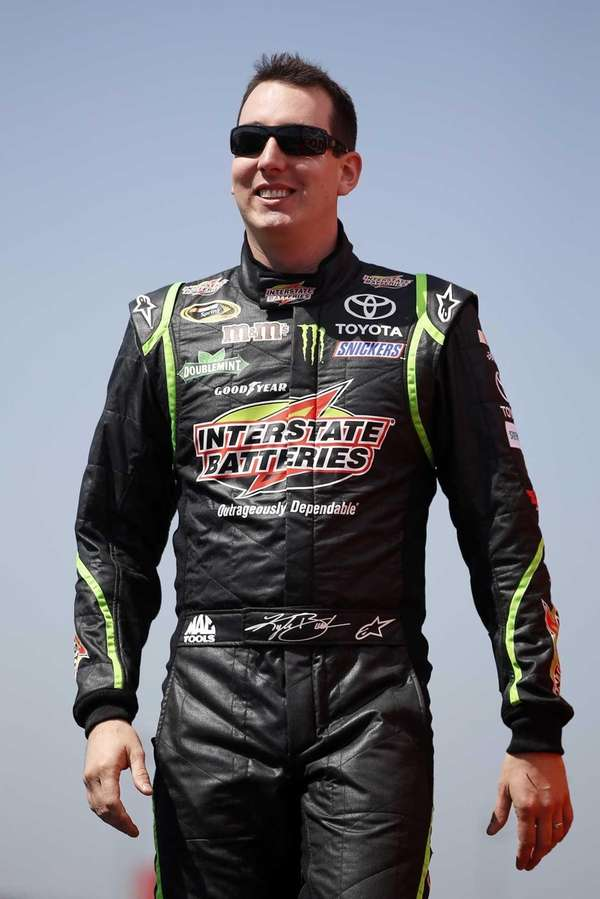 Kyle Busch, driver of the #18 Interstate Batteries