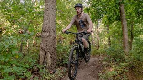 Russell Vogel, 26, of East Northport, takes to