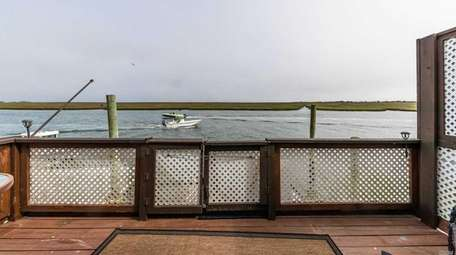 The houseboat has a private deck at the