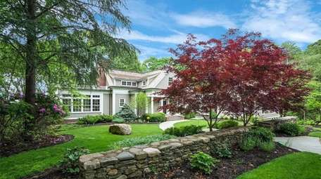 A long driveway creates privacy on the property,