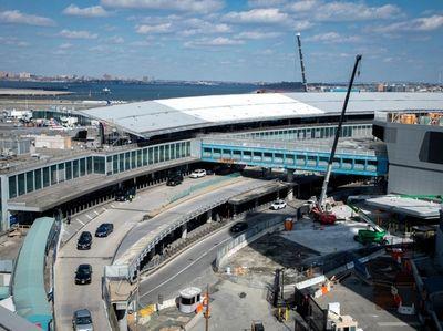 New roads in Laguardia airport in Queens are