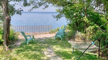 The cottage is in a year-round community on