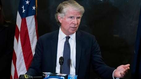 Manhattan District Attorney Cyrus Vance Jr., speaks at