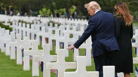 President Donald Trump at D-Day 2019 commemorations at