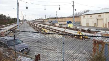 A rail yard just east of the Ronkonkoma